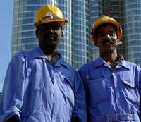 Construction workers Dubai